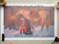 The Prayer At Valley Forge Arnold Friberg Oil Print On Canvas George Washington