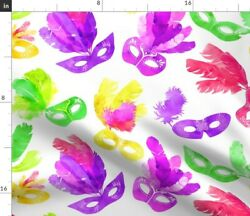 Mardi Gras Carnival Carnivale Fat Tuesday Spoonflower Fabric By The Yard