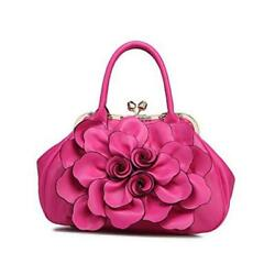 Women#x27;s Evening Clutches Handbags Formal Party Wallets Wedding 18941 Rose Red $66.44