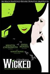 Wicked Movie Poster Poster Print 24x36 Inches Wall Art Poster Classic Vintage