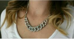 Antique Look Natural Rose Cut Diamond Sterling Silver Chain Necklace Jewelry