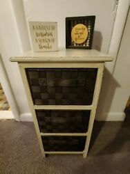 Farmhouse, Shabby Chic Storage Shelf / Side Or Accent Table