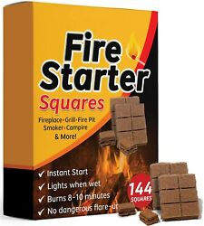 Fire Starter Squares 144 Larger And Safer Fire Starters For Fireplace Wood Stove