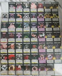 Binding Of Isaac Four Souls Uncut Monster Card Sheets New, Unopened