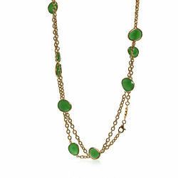 Mimi Milano Talita 18k Rose Gold And Green Jade Necklace C326r8g
