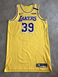 Dwight Howard Lakers Jersey Team Issued Size 50+6 Gold 2019-20