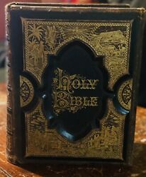 1872 Antique Family Bible In Mint Condition