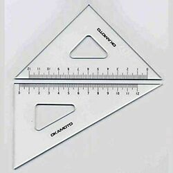 Set Square With Scale 240 Mm Thickness 2 Mm 22-1242 [drafting Supplies] 210-