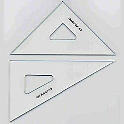 No Scale Triangular Ruler 180 Mm Thickness 2 Mm 22-0182 [drafting Supplies]