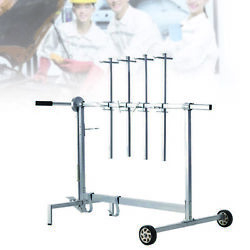 Car Auto Body Bumper Holder Rotating Hanging Stand Rolling Painting Rack Tree