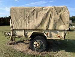 2 Two Usa Army M105a2 Usmc Military 1-1/2 Cargo Trailers 2 Trailers Included