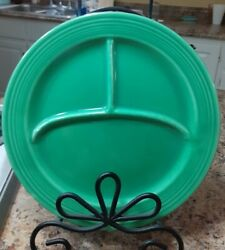 Fiestaware Vintage 10 1/2 Compartment Plate Divided Grill Fiesta Green