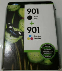 2 Genuine Factory Sealed Hp 901 Black And Color Ink Cartridges 1 Of Each 2022