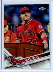 2017 Topps Chrome Image Variation Mike Trout 200 Los Angeles Angels