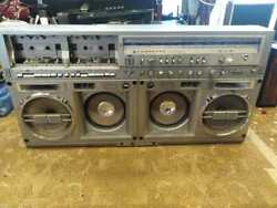 Vintage Sharp Boombox Stereo Gf-777z Tested Read Description