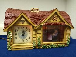 Vintage Haddon Electric Motion Animated Clock Home Sweet Home Model 30 Usa