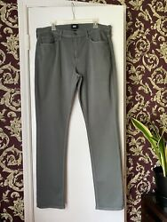 Paige - Menand039s 36x34 - Federal - Jeans Straight Leg Stretch Grey Denim Jeans