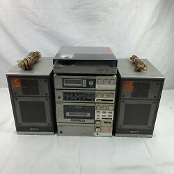 Vintage Sony Fh-7 Stereo Boombox W/ Ps-q7 Record Player Phono Input / Cd / Aux