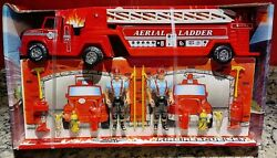 Vintage 1990 Nylint Toys Classic Aerial Ladder Set Steel Truck Fire Rescue 107