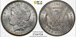 1878-cc 1 Morgan Silver Dollar Ms64 Cac And Pcgs Secure Gold Shield