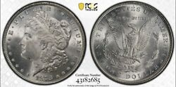 1878 Morgan Silver Dollar 7tf Reverse Of 1879 Ms64 Pcgs Secure Gold Shield