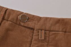 Kiton Nwt Casual Pants / Chinos In Brown Corduroy Cotton Blend Size 33 995