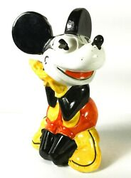 Mickey Mouse 1930's Figurine/ Bank Hand Painted Faiencerie D' Onnaing Rare
