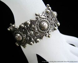 Vintage Early Mexico Sterling Silver Link Bracelet Marked Taxco 980