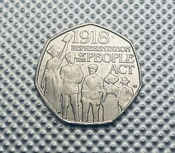Rare 50p Coin - 1998 Representation Of The People Act - Circulated -2018