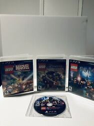 Lego Video Game Bundle Of Four For Sony Playstation 3 Ps3