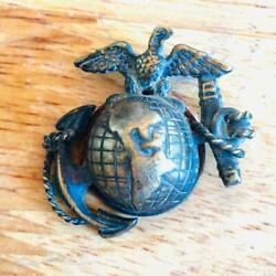 Wwi Usmc Marine Officer Ega German Theater Made Pin Badge D. Snyder Collection