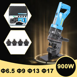 Mhp-20 Electric Hole Punch Hydraulic Knockout Puncher 10 Ton W/ 5 Dies 2-3s 900w