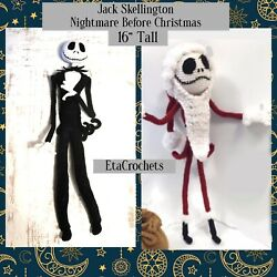 2pc Jack Skellington And Santa Claus Nightmare Before Christmas 24andrdquo Doll Crochet