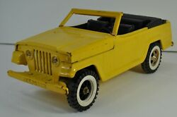 Tonka 2460 Yellow Jeepster 13 Vintage 1970s Steel Missing Tire For Parts Repair