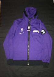 Lakers Hoodie Jacket Warmup Team Issued Size Xl T Purple Nike Elgin Baylor Patch