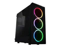 Neon Gaming Computer Case See-through Front And Side Panel With X3 Rgb Front