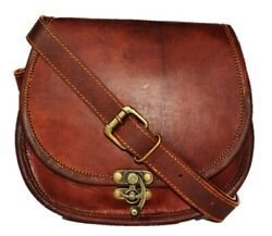 Womenand039s Old Vintage Rustic Beautiful Small Messenger Cross-body Bag Goat Hide
