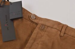 Kiton Nwt Casual Pants / Chinos In Brown Corduroy Cotton Blend Size 34 995