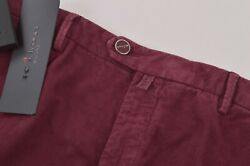 Kiton Nwt Casual Pants / Chinos In Burgundy Corduroy Cotton Blend Size 35 995