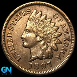 1897 Indian Head Cent Penny -- Make Us An Offer K8287