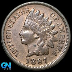 1897 Indian Head Cent Penny -- Make Us An Offer K8317