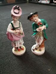 Victorian Porcelain Figurines - Made In Occupied Japan