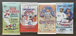 2020-21 Mlb Topps 4 Pack-lot Allen Ginter Chrome Opening Day Gypsy Queen