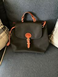 Black and leather Dooney and Bourke backpack. $65.00