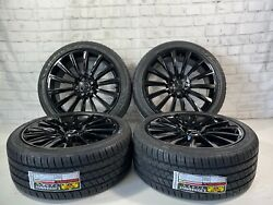 🔥19 Wheels And Tires Fit Mercedes C, S, E, G Class Amg Gloss Black New Tires