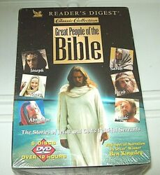 Reader's Digest Classic Collection Great People Of The Bible 6 Discs Dvd New