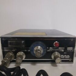 Vintage Robyn Cb Radio 21 Channels Model 6m74/tr-123c Transceiver With Mic