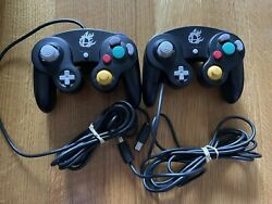Official Black Super Smash Bros Gamecube Wii Controller Oem Authentic - Tested