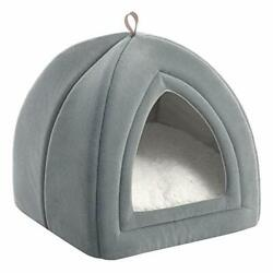 Cat Bed for Indoor Cats Cat Houses Dog Bed 15 19 inches 2 Small Light gray