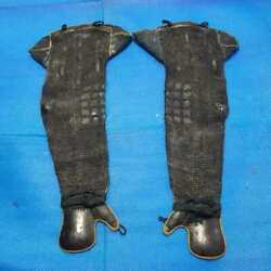 Antique Edo Period Gauntlet Life Size Excellent From Japan